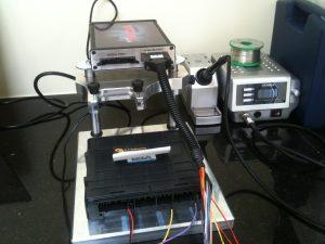 Bench flashing Mitsibushi ECU. We can do EDC17 Tri-core ECU's if required too.