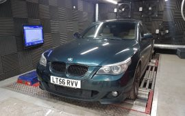 BMW 535D Custom Mapped on the rolling road