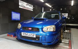 Subaru impreza WRX tuned open source on our rolling road, dyno cell