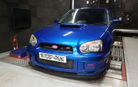 Subaru Impreza STi custom tuned on the rolling road, opensource, pve, somerset