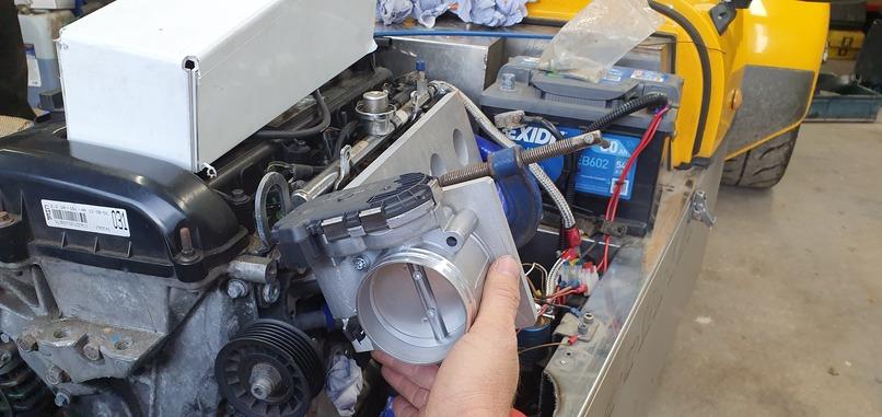 Bosch Motorsport throttle body duratec plenum