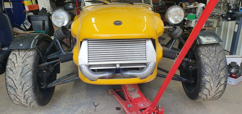 Quantum nosecone modified to fit intercooler