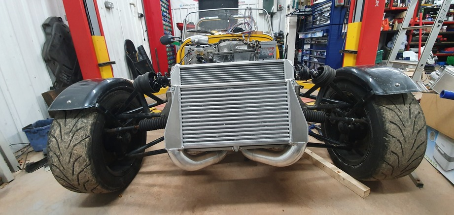 JEK Fabrications intercooler and radiator package