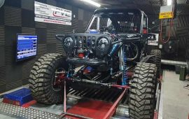 Ultra4 Truck Tuned with HP Tuners on the rolling road