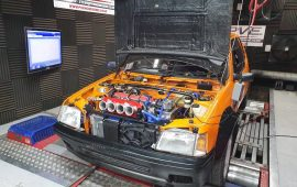 Mi16 powered Peugeot 205 tuned on OMEX