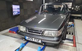 Saab 900 Turbo on the rolling road