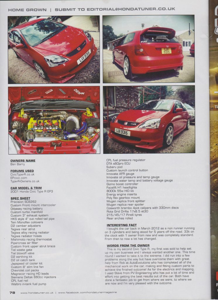 Civic EP3 Turbo Magazine Feature