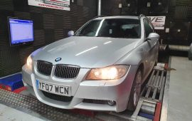 E90 330D Remap on the rolling road