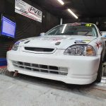 Honda Civic Hondata S300 tuned on rolling road somerset
