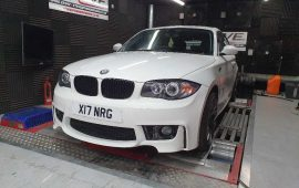 BMW 116D Custom Remap On Our Rolling Road